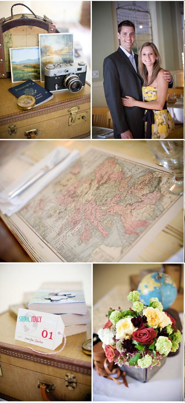 deco de mariage theme voyage vintage lire. Black Bedroom Furniture Sets. Home Design Ideas