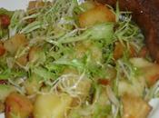 Salade d'endive frisée lardons, terre pommes.