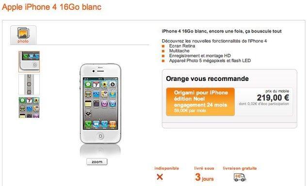 quand orange en profite pour augmenter le prix de l 39 iphone 4 blanc paperblog. Black Bedroom Furniture Sets. Home Design Ideas