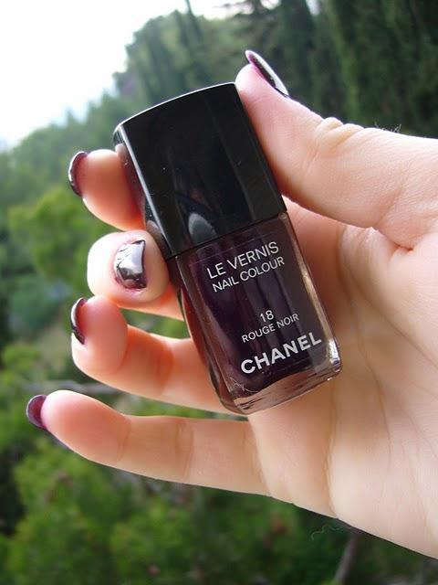 Noir Vernis Chanel Vernis Rouge Noir
