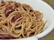 Spaghettis trop chou caramel soja