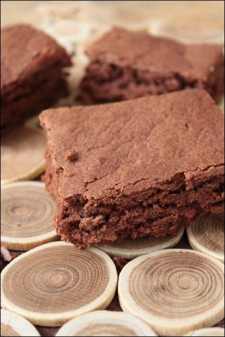 Gâteau au chocolat et purée d'amandes