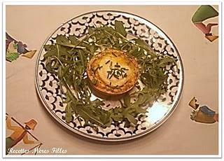 La recette Chèvre  : Clafoutis de Chèvre aux Fines Herbes