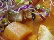 Soupe épaisse poisson crevettes légumes