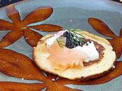 Blinis saumon oeufs lympe