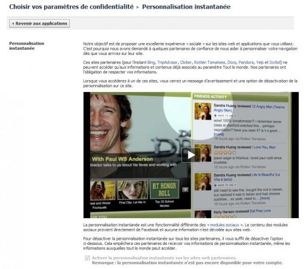 Désactiver la personnalisation instantanée Facebook - Pour la sécurité de vos données!