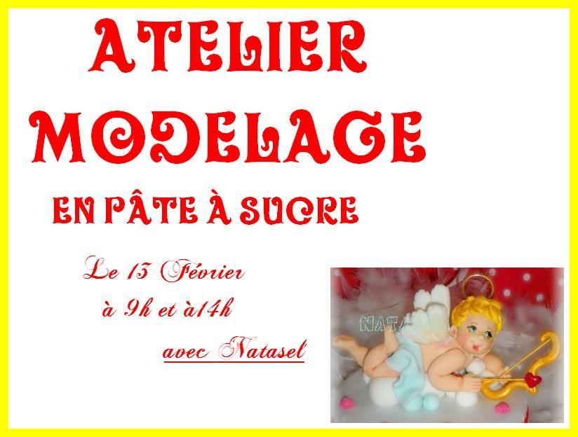 Ateliers modelage en pâte à sucre, le 13 février