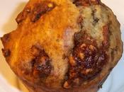 Muffins gourmands moelleux compote pommes-poires, deux chocolats, pralin, sirop d'érable, lait ribot poudre d'amandes