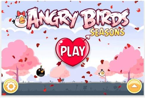 angry bird seasons mise jour saint valentin disponible paperblog. Black Bedroom Furniture Sets. Home Design Ideas