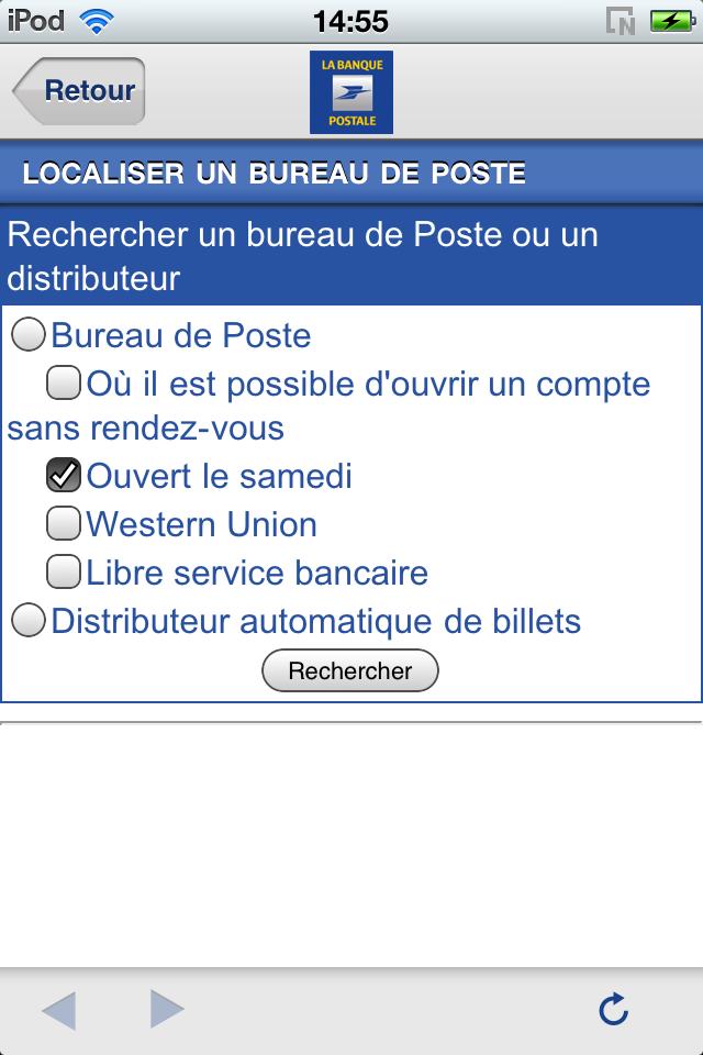 l appli du jour blogiphone acc 232 s compte de la banque postale sur iphone ipod touch 192 voir