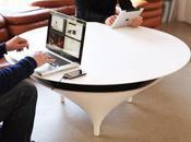 Acoustable, table design pour diffuser votre musique.