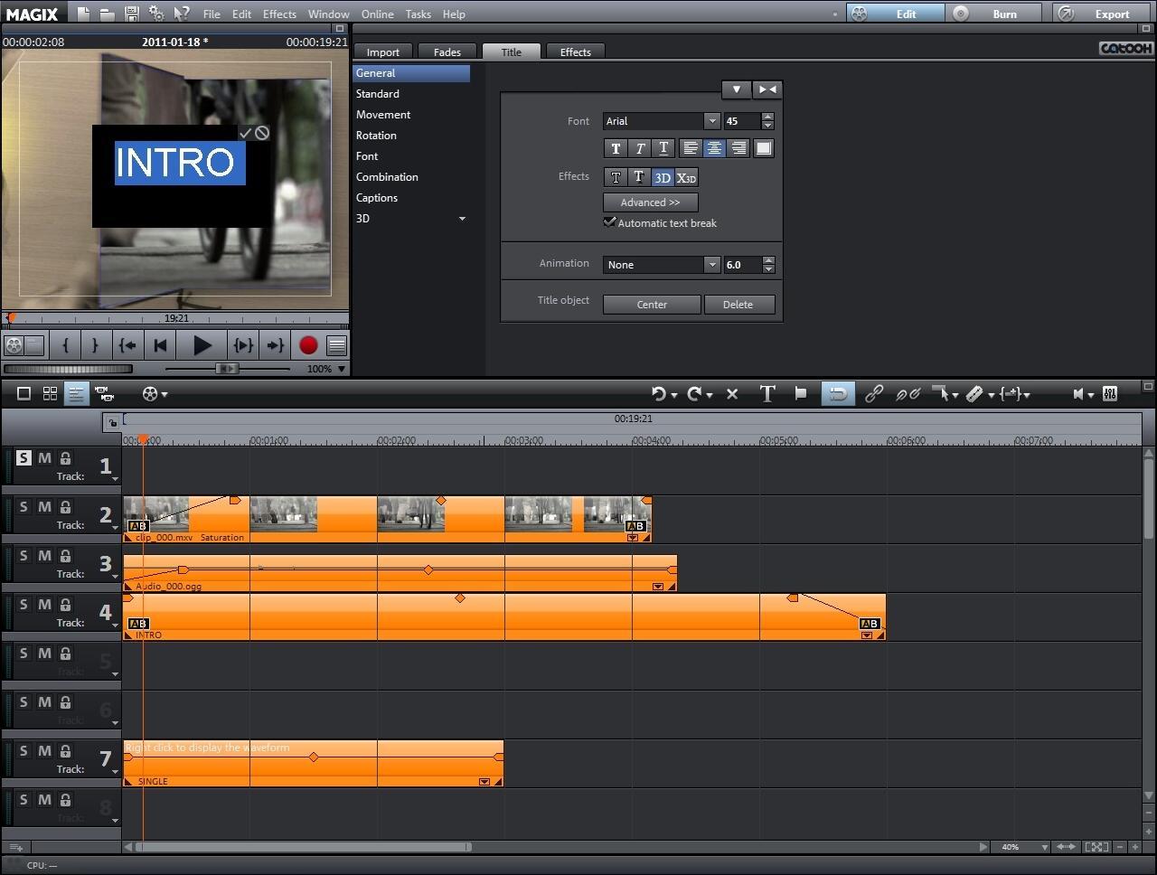 intro 2 Créer une intro et obtenir un film génial avec le logiciel de montage Vidéo deluxe de MAGIX