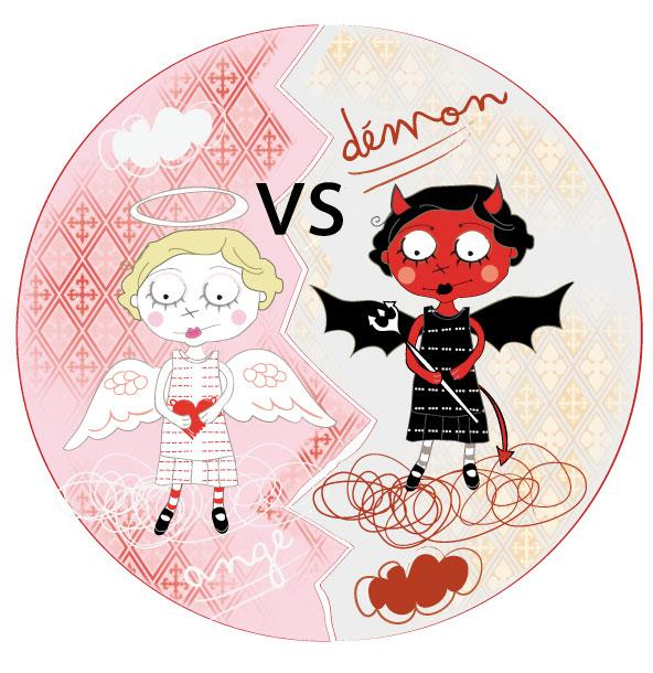 Mi ange mi d mon paperblog - Dessin ange demon ...