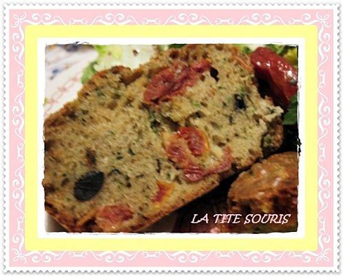 Cake Au Tomate Sechee Et Olive Noire