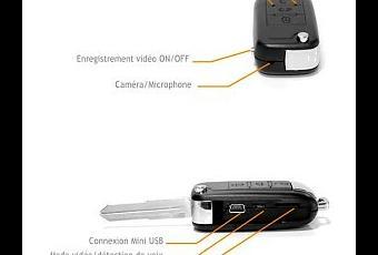 une camera espion dvr cach e dans une fausse clef de voiture telecommande d couvrir. Black Bedroom Furniture Sets. Home Design Ideas