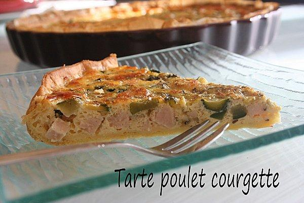 tarte courgette poulet