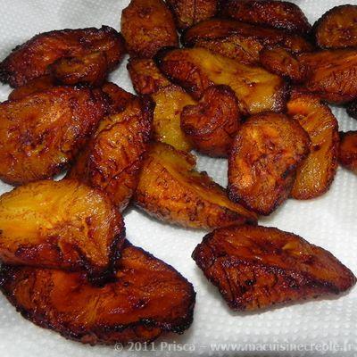 banane plantain recette sucrée