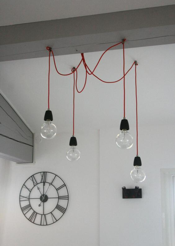 Nouvelle tendance cr ez une lampe ampoule cosy neve design for Luminaire suspension design