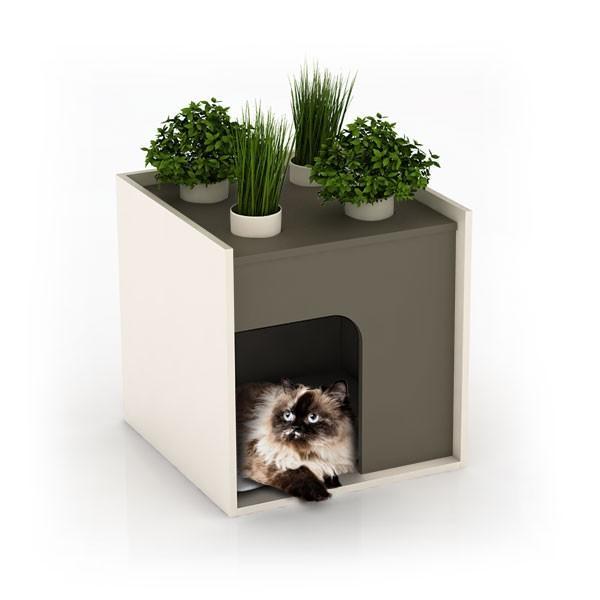 Nouveau les niches tr s modernes pour chiens ou chats paperblog - Niche pour chien design ...