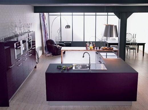 Une cuisine r invent e vive la couleur paperblog - Cuisine aubergine lapeyre ...