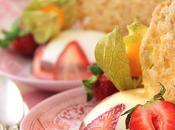Vingt-neuvième participation défis Daring Bakers Tuiles l'avoine panna cotta fraise, chocolat blanc gelée d'érable