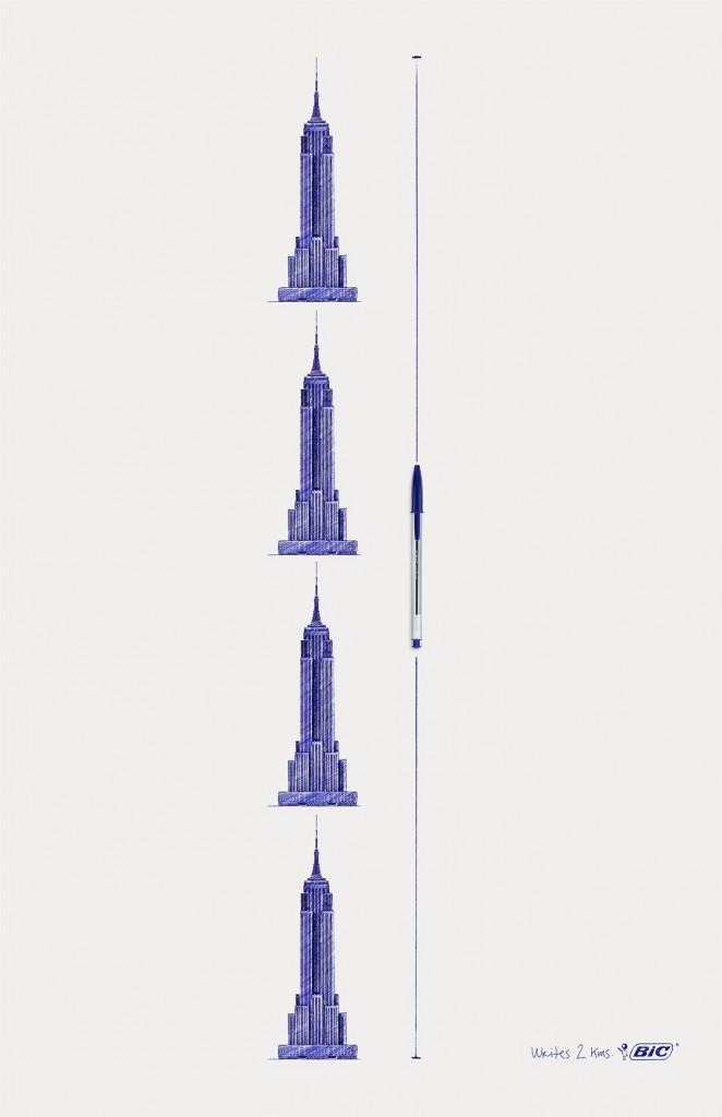 Ecriture Empire State Building