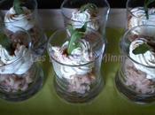 Verrines crevettes grises mascarpone