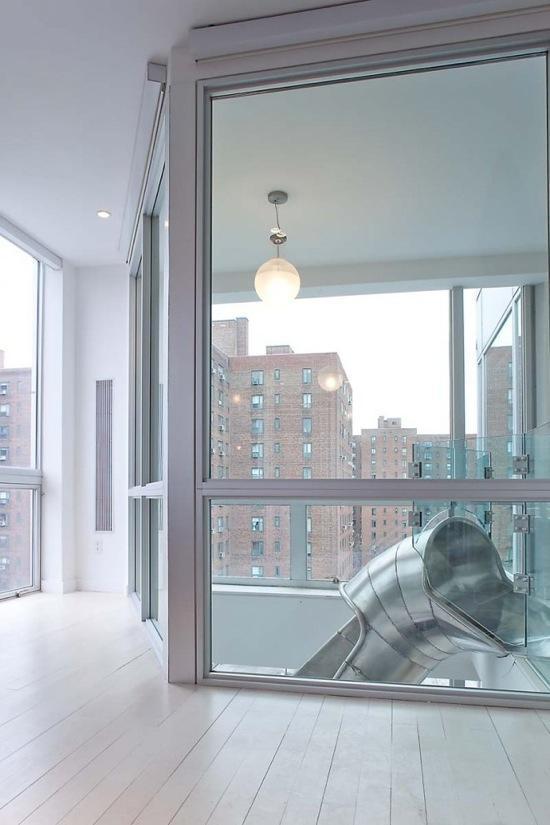 un duplex avec toboggan en spirale new york paperblog. Black Bedroom Furniture Sets. Home Design Ideas