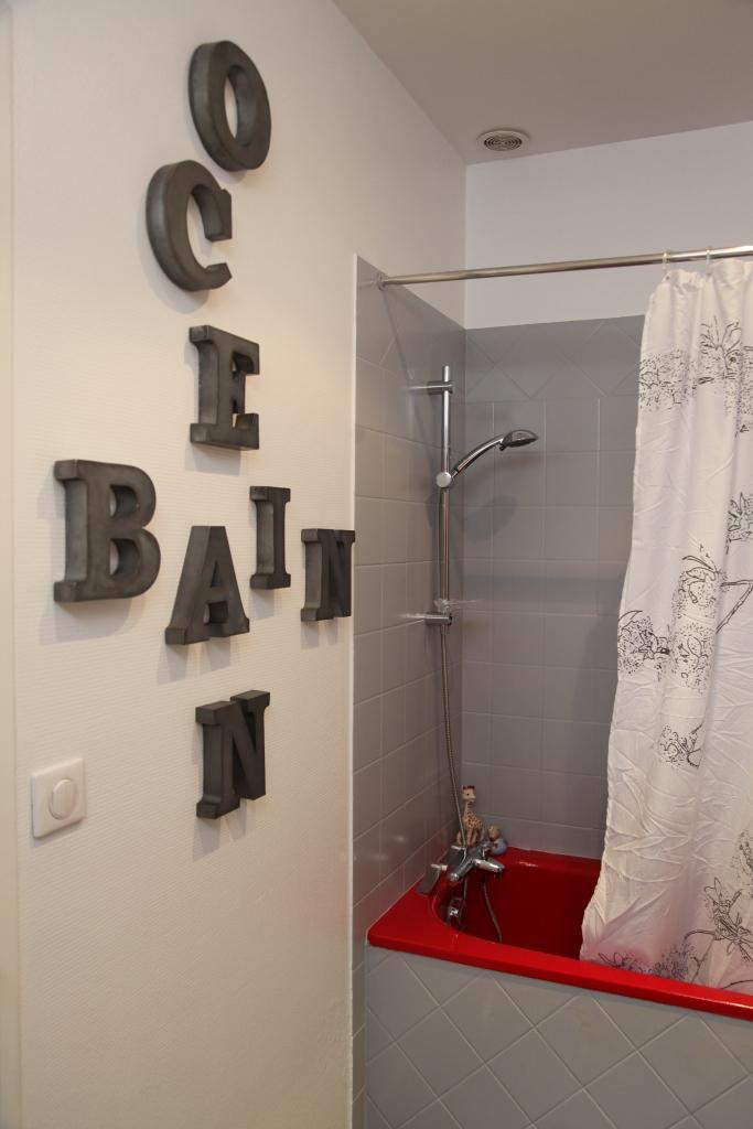 Peinture mur salle de bain photos de conception de for Peindre du carrelage mural salle de bain