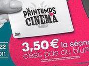 Printemps Cinéma dimanche mardi mars, billet 3,50€