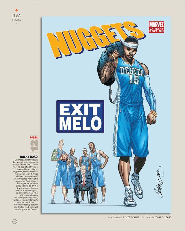 Nuggets X Rockets: Marvel Relook La NBA