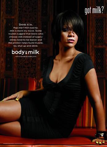 Rihanna aime le lait