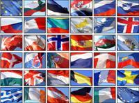 Image mosaic des drapeaux