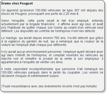 Pastiche Société Générale - la blague du 31-01-2008