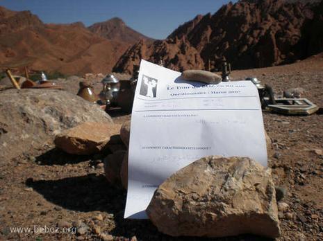Tour Boz… dans désert Maroc
