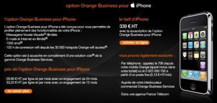 Orange Business pour iPhone