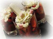 Verrines fraises d'orange fleurs lavande