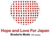 Hope Love Japan braderie mode secours Japon