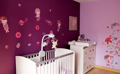 Une jolie chambre de petite fille voir for Chambre de bb fille