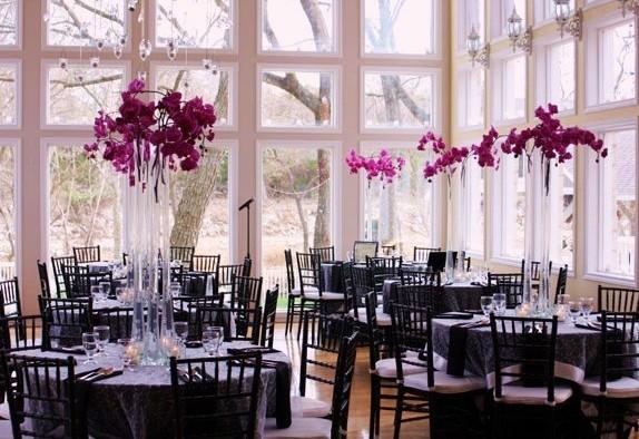 Mariage noir et blanc paperblog for Centre de table lumineux