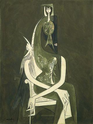 Femme assisse