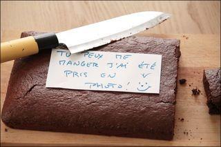 Gâteau chocolat au grué lactose & gluten free pm