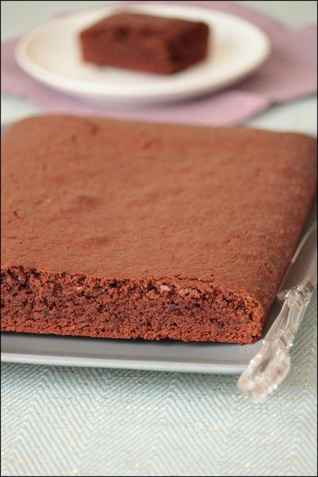 Gâteau chocolat au grué lactose & gluten free