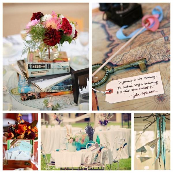 deco de mariage theme voyage paperblog. Black Bedroom Furniture Sets. Home Design Ideas