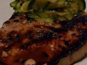 Côtes porc marinées balsamique sirop d'agave