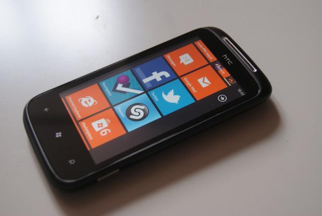 Test HTC Mozart Windows Phone 7