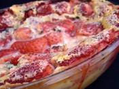 Clafoutis fraises menthe