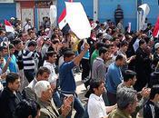 Syrie étudiants réprimés lors d'une manifestation