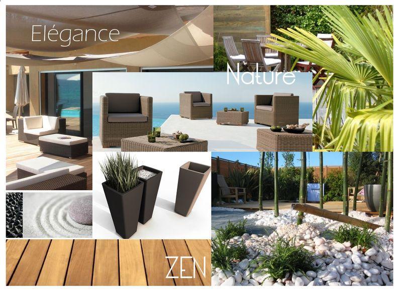 matériau chaud, noble et esthétique, le bois ; la terrasse en bois