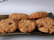 Cookies beurre cacahuètes pépites chocolat pour goûter gourmand